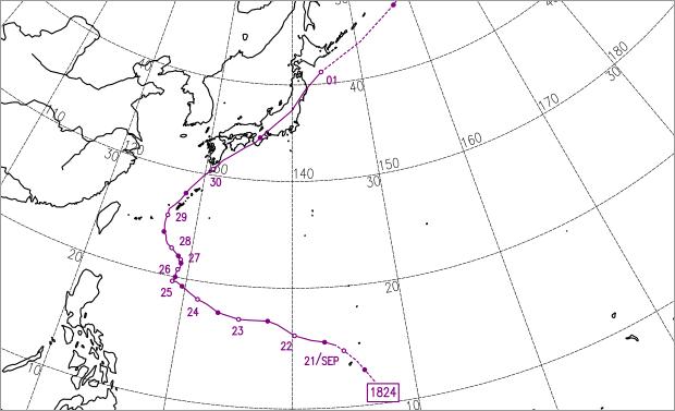 2018年台風24号